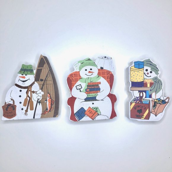 Vintage Other - The Cat's Meow Snowman Collection Wooden Decor